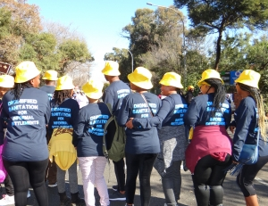 Ekurhuleni informal settlements walk for #DignifiedSanitation