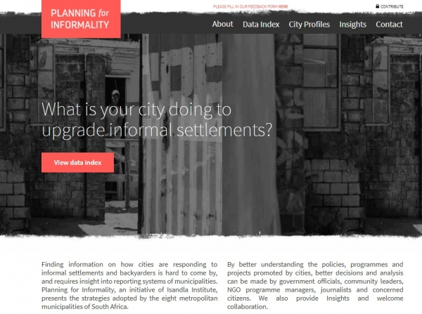 Planning for Informality - Isandla Institute's new web-tool